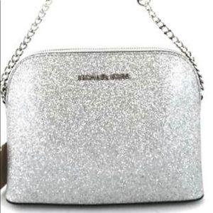 NWT Michael Kors Glitter And chain Crossbody Bag